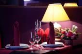 欧洲的餐厅,在明亮的颜色 — 图库照片