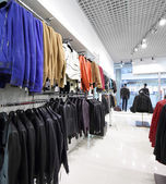 Brand new interior of cloth store — Stockfoto