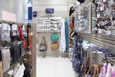 Brand new interior of accessories store — Stock Photo