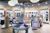 Interior of bright underwear shop — 图库照片