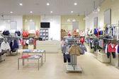 Brand new interior of kids cloth store — Stok fotoğraf
