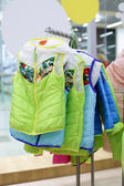 Brand new interior of kids cloth store — Стоковое фото