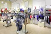 Brand new interior of kids cloth store — Stock Photo
