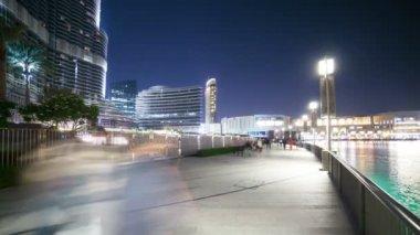 Walking street in Dubai — Stock Video