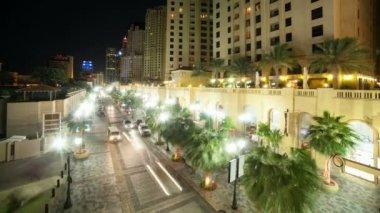 Street at Dubai marina — Stock Video