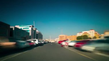Dubai day traffic — Stok video