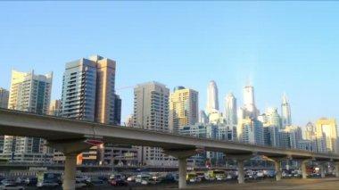 Dubai marina ruchu drogowego — Wideo stockowe