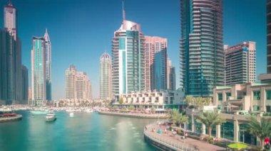 Dubai marina view — Stock Video
