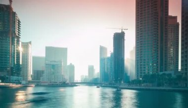 Dubai marina area — Vídeo stock