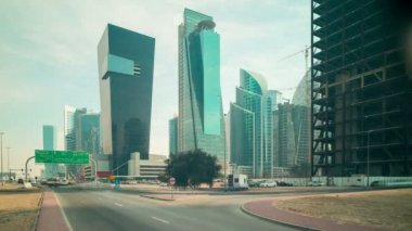 Business district in Dubai — Vídeo stock