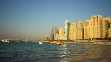 Dubai marina beach — Stock Video
