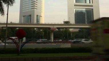 Emirates towers, Dubai — Stock Video