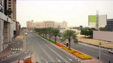 Dubai marina traffic — Video Stock