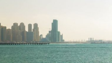 Dubai marina view, UAE — Stock Video