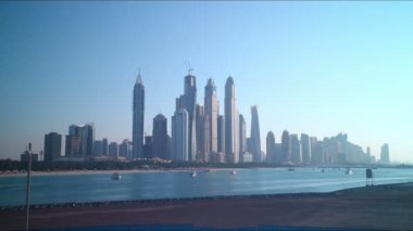 Dubai marina view, UAE — Stock Video
