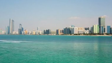 Water motorcycle at Abu Dhabi — Stock Video