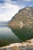 Reflection in the Fiord — Stock Photo