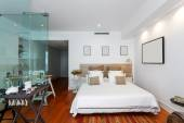 Modern single bedroom house — Stock Photo