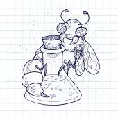 Doodle poison — Stok Vektör