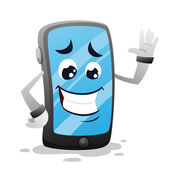 Funny sensory phone — Stock Vector