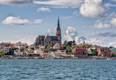 Lysekil church viewed from the seaside, Sweden — Stock Photo