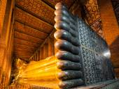 Reclining Buddha at Wat Pho, Bangkok — Stock Photo
