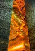 卧佛在佛寺,曼谷 — 图库照片