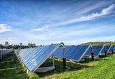 Solar water heating system, great scale — Zdjęcie stockowe