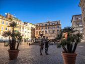 Piazza Santa Maria in Trastevere — Foto Stock