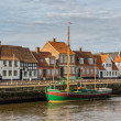 Harbor in medieval city of Ribe, Denmark — Stok fotoğraf #65294971