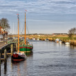 Harbor in medieval city of Ribe, Denmark — Stok fotoğraf #65295389
