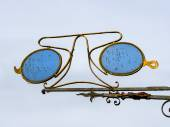 Traditional opticians sign in Ribe, Denmark — Stock Photo