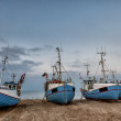 Fishing boats at Thorup beach on the Danish North Sea coast — Стоковое фото #66188707