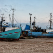 Fishing boats at Thorup beach on the Danish North Sea coast — Стоковое фото #66188727