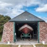 Vintage life saving station in Sonderho on Fano — Stock Photo #73744227