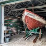 Vintage life saving station in Sonderho on Fano — Stock Photo #73744229