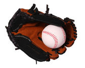 Baseball. Ball in Glove isolated on white. — Stock Photo