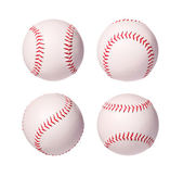 Baseball Balls Collection isolated on white background. Closeup. — Stock Photo