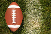 American Football on Field with yard line — Stock Photo