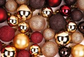 Christmas Background. Colorful Balls — Photo