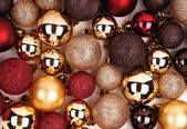 Christmas Background. Colorful Balls — Stockfoto