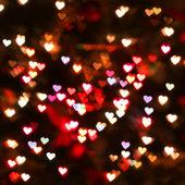 Heart bokeh background. Valentine's day background — Stock Photo