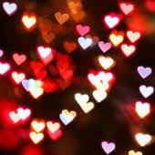 καρδιά bokeh φόντο. φόντο ημέρα του αγίου βαλεντίνου — Stockfoto