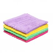 Colorful Bathroom Towels isolated on white background — Stock Photo