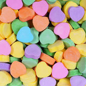 Colorful Hearts background. Sweetheart Candy. Valentines Day  — 图库照片
