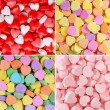 Heart Candy Background Collection. Valentines Day — Stock Photo #63439731