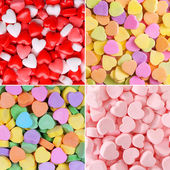 Heart Candy Background Collection. Valentines Day  — Stock Photo