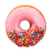 Donut with sprinkles isolated on white background — Stock Photo