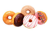 Donuts isolated on white background — Stock Photo