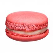 Pink Macaroon isolated on white — Foto de Stock
